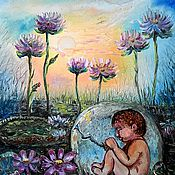 Картины и панно ручной работы. Ярмарка Мастеров - ручная работа Сон бога ( бронь). Handmade.