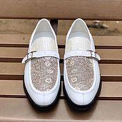 Обувь ручной работы handmade. Livemaster - original item Trendy men`s loafers, combination of iguana skin and ostrich leather.. Handmade.
