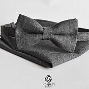 Аксессуары handmade. Livemaster - original item Tie dark grey Clint Eastwood Shawl / wedding rustic. Handmade.