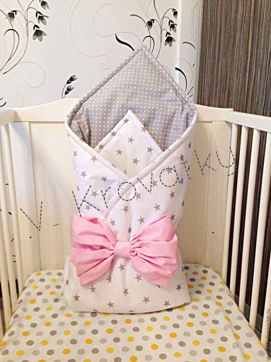 Для новорожденных, ручной работы. Ярмарка Мастеров - ручная работа. Купить Одеяло на выписку. Handmade. Комбинированный, одеяло, одеяло в коляску