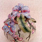 """Для дома и интерьера ручной работы. Ярмарка Мастеров - ручная работа Вазочка """"Орхидея """" малая. Handmade."""