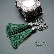 Украшения handmade. Livemaster - original item Earrings of the tassel In the ASSORTIMENT The threads silk viscose.. Handmade.