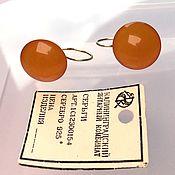 Винтаж handmade. Livemaster - original item Amber color Toffee Amber Earrings Silver 925 star vintage USSR. Handmade.