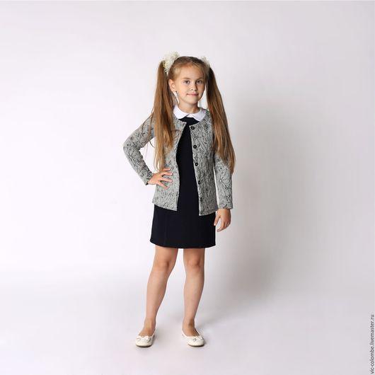 Одежда для девочек, ручной работы. Ярмарка Мастеров - ручная работа. Купить Предзаказ!! Утепленный жакет для девочки. Handmade. Серый