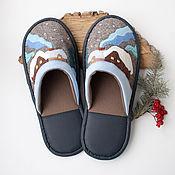 Обувь ручной работы. Ярмарка Мастеров - ручная работа Тапочки домашние Зимние. Handmade.