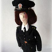 Куклы и игрушки ручной работы. Ярмарка Мастеров - ручная работа Девушка-полицейский. Handmade.