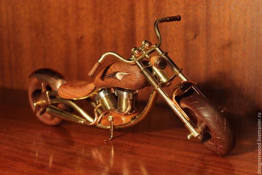 Статуэтки ручной работы. Ярмарка Мастеров - ручная работа. Купить модель мотоцикла. Handmade. Модель мотоцикла, металл