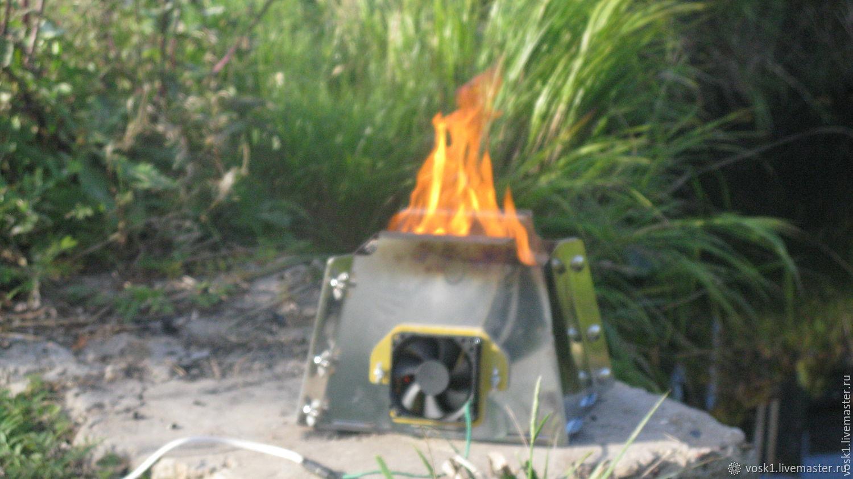 Брикетная мини печь с принудительным поддувом, Очаги садовые, Боровичи,  Фото №1