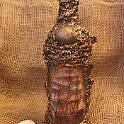 Подарки к праздникам ручной работы. Ярмарка Мастеров - ручная работа Декор бутылки в морском стиле. Handmade.
