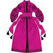 "Одежда handmade. Livemaster - original item Long dress with embroidery ""King-Bird"". Handmade."