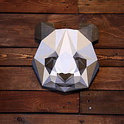 Маски ручной работы. Ярмарка Мастеров - ручная работа Панда, деревянная вывеска. Handmade.