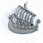 Украшения ручной работы. Ярмарка Мастеров - ручная работа Подвеска, Ладья викингов. Handmade.