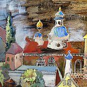 Картины и панно ручной работы. Ярмарка Мастеров - ручная работа Старый городок. Handmade.