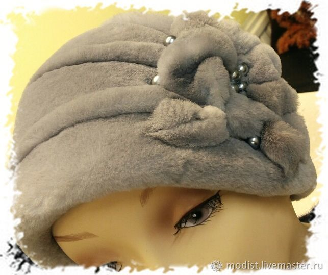 Retro style hat made of trimmed mink, Caps, St. Petersburg,  Фото №1