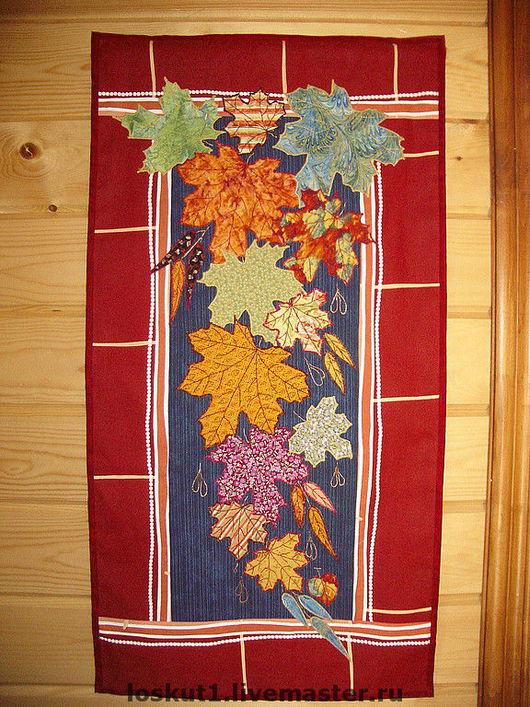 """Картины цветов ручной работы. Ярмарка Мастеров - ручная работа. Купить Панно """"Осень. Окно в сад"""" (1). Handmade."""