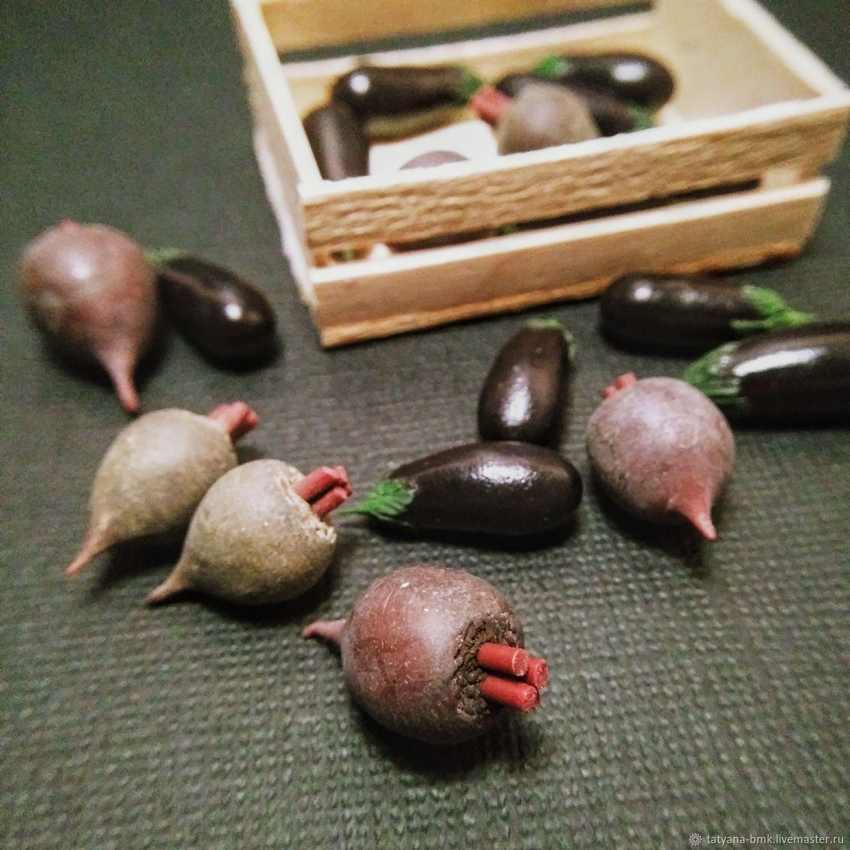 свекла и баклажаны, Кукольная еда, Красноярск,  Фото №1