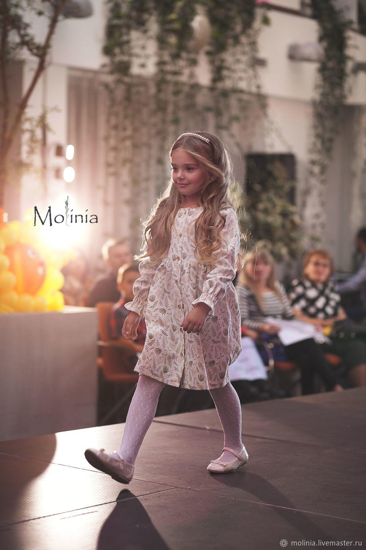Платье для девочки льняное Эмма белое нарядное, Одежда, Калининград,  Фото №1