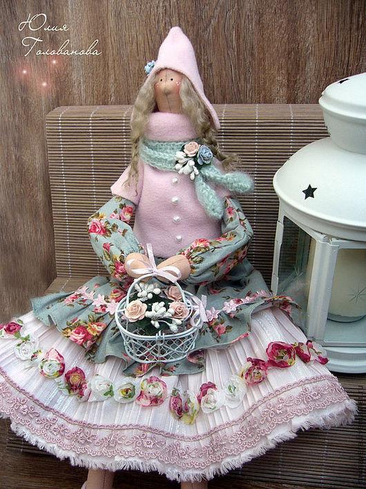 тильда, кукла тильда, тильда кукла, тильда зимняя, подарок на новый год, новый год 2017, подарок подруге, подарок коллеге, ангел тильда, тильда в подарок, Юлия Голованова, Ярмарка мастеров