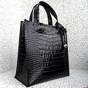 Сумки и аксессуары ручной работы. Ярмарка Мастеров - ручная работа СИТИ модификация, черная кожаная сумка. Handmade.