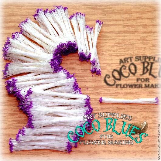 Тычинки. Мелкие фиолетовые головки Тайские тычинки очень хорошего качества.   `Кокосов Блюз` Таиланд  © Coco Blues (Thailand) Co. Ltd