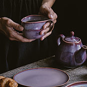Посуда handmade. Livemaster - original item Set of tableware: Mug and saucer, Teapot. Handmade.