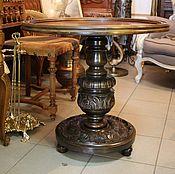 Для дома и интерьера ручной работы. Ярмарка Мастеров - ручная работа антикварный столик на массивной резной ножке. Handmade.