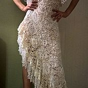 Одежда ручной работы. Ярмарка Мастеров - ручная работа Платье вязаное крючком !ирландское кружево. Handmade.