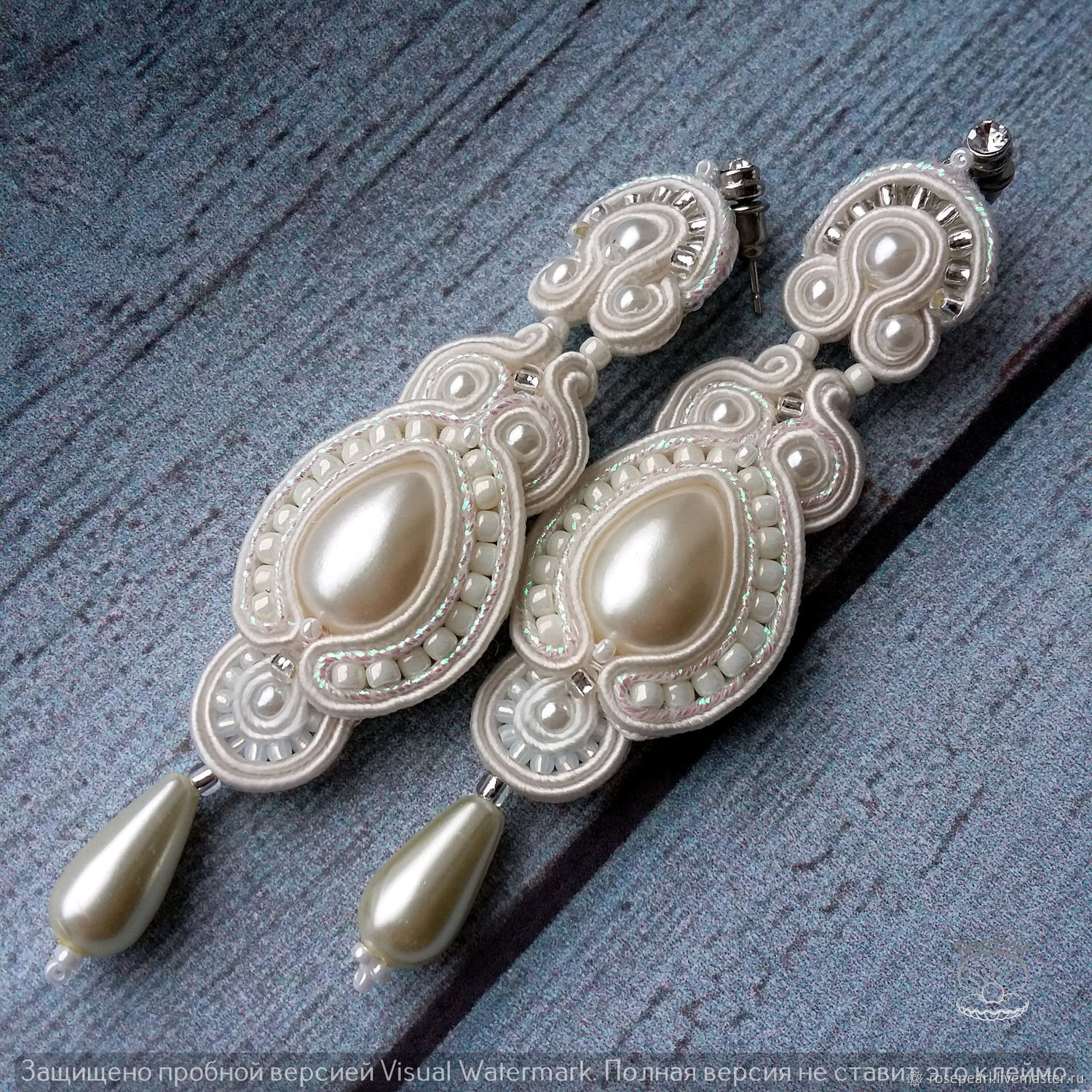 95884d380 Wedding Jewelry handmade. Livemaster - handmade. Buy Wedding long soutache  earrings from the collection ...