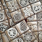 Игрушки ручной работы. Ярмарка Мастеров - ручная работа Новогодние  игрушки на елку, елки из фанеры. Handmade.