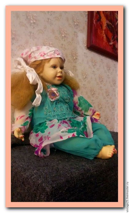 Винтажные куклы и игрушки. Редчайшая старинная кукла 50 см. Чердак старого дома (vintage25). Интернет-магазин Ярмарка Мастеров.