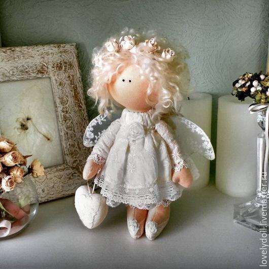 Коллекционные куклы ручной работы. Ярмарка Мастеров - ручная работа. Купить Нежный ангел.. Handmade. Ангел, подарок на день рождения