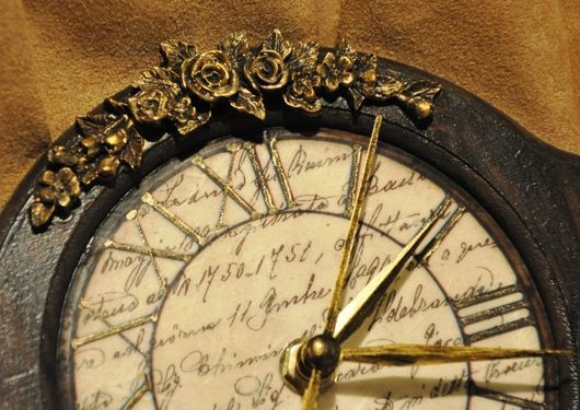 """Часы для дома ручной работы. Ярмарка Мастеров - ручная работа. Купить Часы  """" Винтаж """". Handmade. Коричневый"""