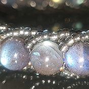 Украшения handmade. Livemaster - original item Bracelet of Labradorite Blue one-piece. Handmade.