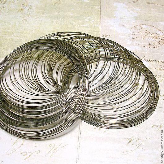 мемори проволока, 65 х 0,6 мм, сталь, цвет серебро, 1 виток