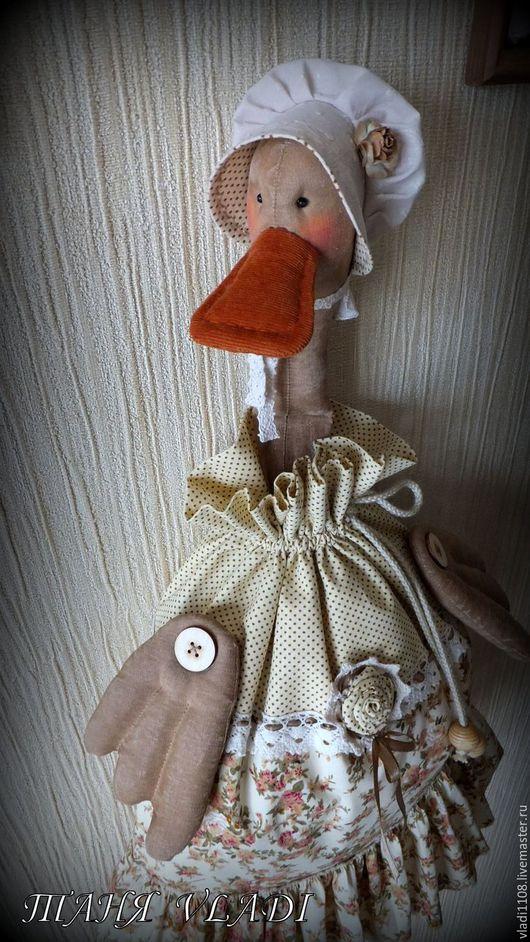 Кухня ручной работы. Ярмарка Мастеров - ручная работа. Купить ШЕББИ УТКА-2 пакетница. Handmade. Пакетница, гусь пакетница