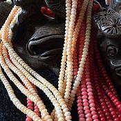 Бусины ручной работы. Ярмарка Мастеров - ручная работа Бусина 3 мм Рондель (2) (3 цвета) , коралл. Handmade.