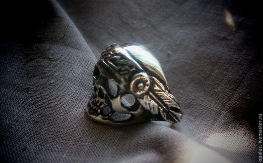 """Украшения для мужчин, ручной работы. Ярмарка Мастеров - ручная работа. Купить Кольцо """"Череп №11"""". Handmade. Кольцо из серебра"""