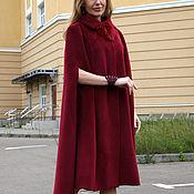 Одежда ручной работы. Ярмарка Мастеров - ручная работа Пальто кейп  из шерсти с кашемиром. Handmade.