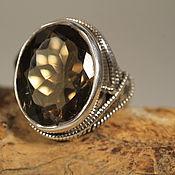 Украшения ручной работы. Ярмарка Мастеров - ручная работа 17.5 раух-топаз 2 см  кольцо серебряное. Handmade.