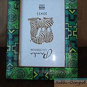 Канцелярские товары ручной работы. Ярмарка Мастеров - ручная работа Рамка для фото Опасности Африки, декупаж. Handmade.