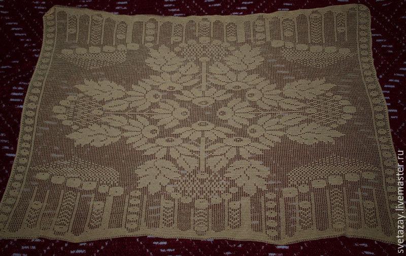 Текстиль, ковры ручной работы. Ярмарка Мастеров - ручная работа. Купить Скатерть ромашки. Handmade. Скатерть, прямоугольная скатерть