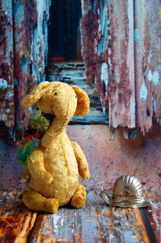 Мишки Тедди ручной работы. Ярмарка Мастеров - ручная работа. Купить Тедди слоник Перчик. Handmade. Желтый, плюш