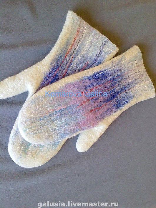 Mittens & Gloves handmade. Livemaster - handmade. Buy Gloves 'Frosty morning'.Mitten, white