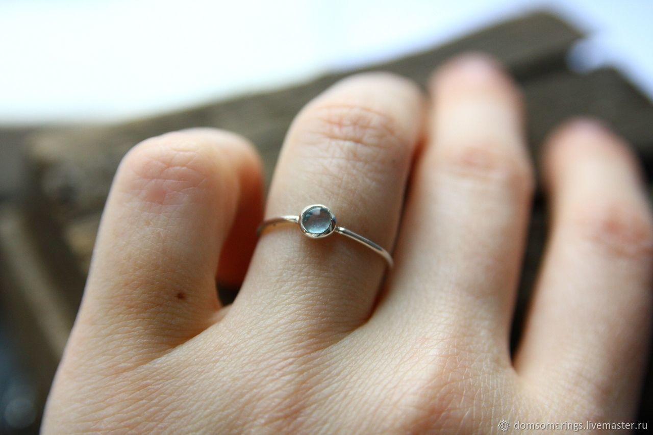 Серебряное кольцо с флюоритом, Кольца, Санкт-Петербург,  Фото №1