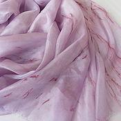 Аксессуары ручной работы. Ярмарка Мастеров - ручная работа Шелковый шарф Пепельная роза, ручного окрашивания. Handmade.