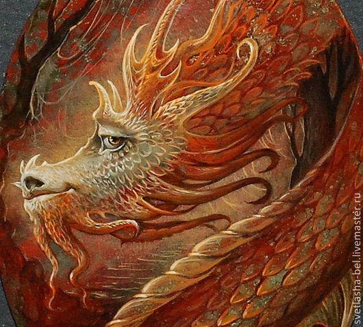 Кулоны, подвески ручной работы. Ярмарка Мастеров - ручная работа. Купить Мудрый Дракон. Handmade. Лаковая миниатюра, яшма натуральная