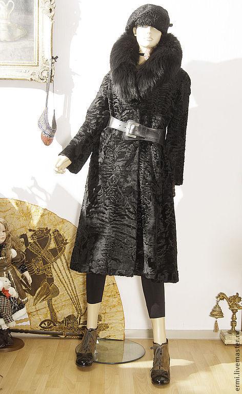 Верхняя одежда ручной работы. Ярмарка Мастеров - ручная работа. Купить Свакара  шелковая с воротником, для стильных. Handmade. Черный, стильно