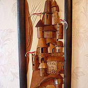 """Картины и панно ручной работы. Ярмарка Мастеров - ручная работа картина                """"Средневековый город """". Handmade."""