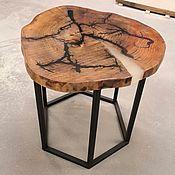 Столы ручной работы. Ярмарка Мастеров - ручная работа Стол из спила Карагача с молниями Лихтенберга, залит эпоксидной смолой. Handmade.