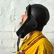 Аксессуары ручной работы. Ярмарка Мастеров - ручная работа Шлем лётчика из кожи. Handmade.